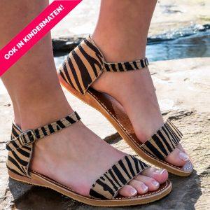 Sandaal Alicia tijgerprint