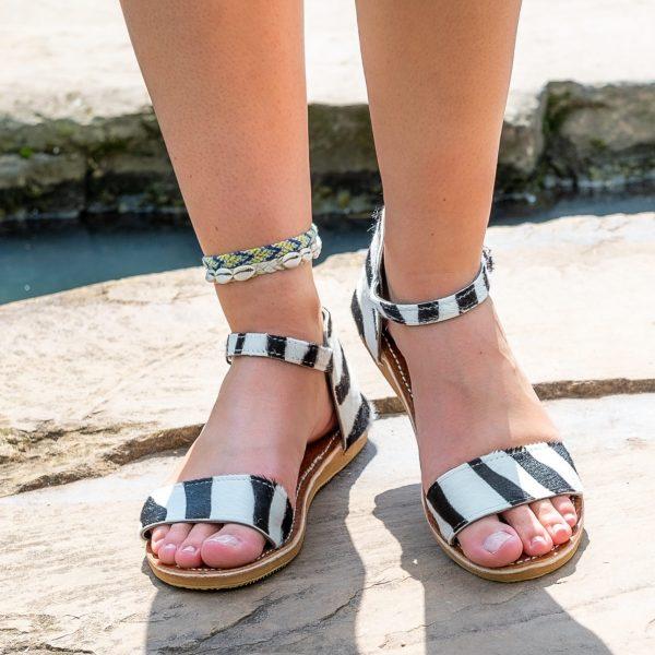Sandaal zebraprint